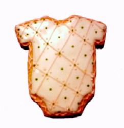 Cookies Shaped Like Onesies