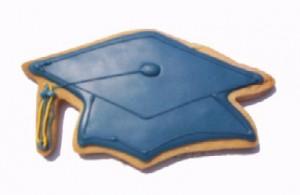 Cookies Shaped Like Graduation Caps