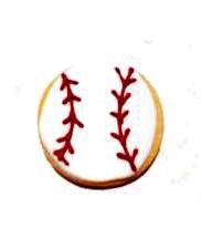 Cookies Shaped Like a Baseball