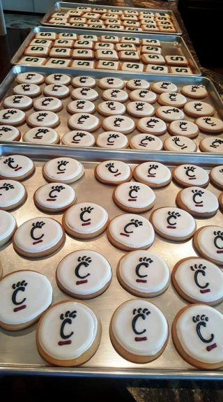 College Logo Cookies