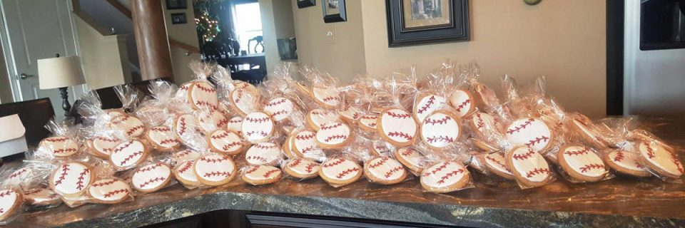 Hand Decorated Sports Themed Baseball Cookies