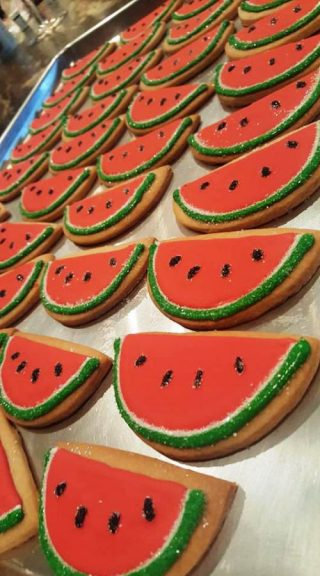 Hand Decorated Watermelon Cookies