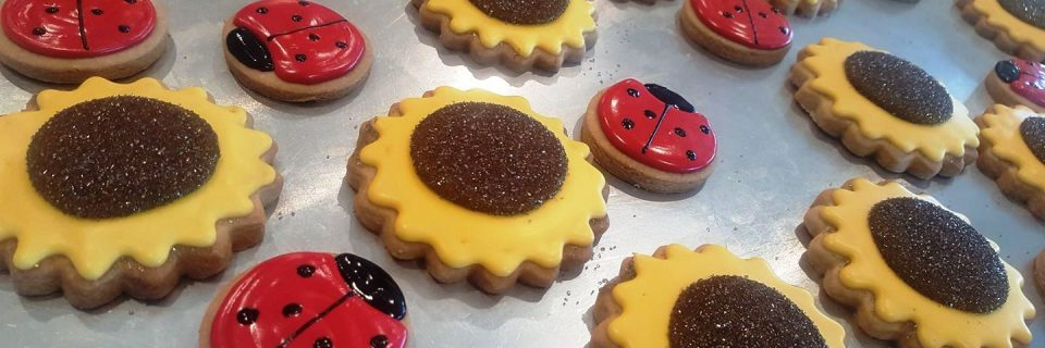 Sunflowers And Ladybug Cookies